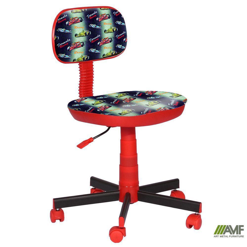 Кресло детское Киндер Машинки (пластик красный)