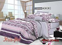 Двуспальный набор постельного белья 180*220 из Сатина №149A KRISPOL™