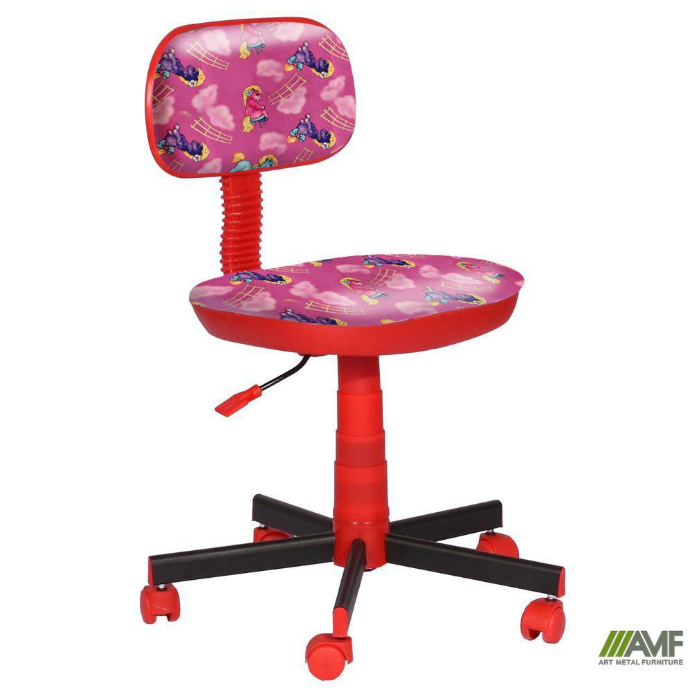 Кресло детское Киндер Пони - розовый (пластик красный )