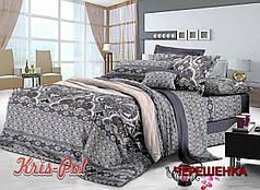 Двуспальный набор постельного белья 180*220 из Сатина №1415A KRISPOL™
