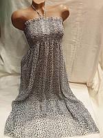 Сарафан-юбка пляжный 001 серый,идет на наши 40-46 размеры.