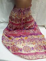 Сарафан-юбка пляжный 001 розовый,идет на наши 40-44 размеры., фото 2
