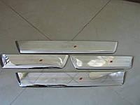 Toyota Hilux Revo 2014 накладки на пороги дверных проемов V1