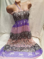 Сарафан-юбка пляжный 001 серый,идет на наши 40-44 размеры., фото 3