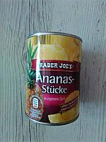 Консервированный ананас в сиропе Trader Joe's кусочками, 560 гр
