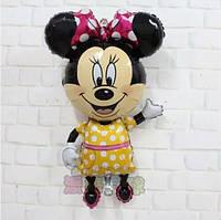 """Фольгированный воздушный шарик """" Минни Маус в желтом платье """" 112 см"""