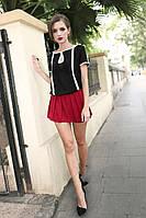 Женская легкая блуза короткий рукав с вырезом LIVA GIRL