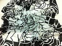 Чёрно белое  парео-платок роза
