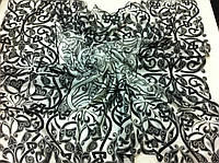 Чёрно белое парео-платок узор