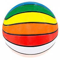 Мяч баскетбольный резиновый разноцветный №7