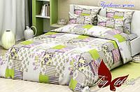 Комплект постельного белья Прованс зеленый (TAG-369е) евро