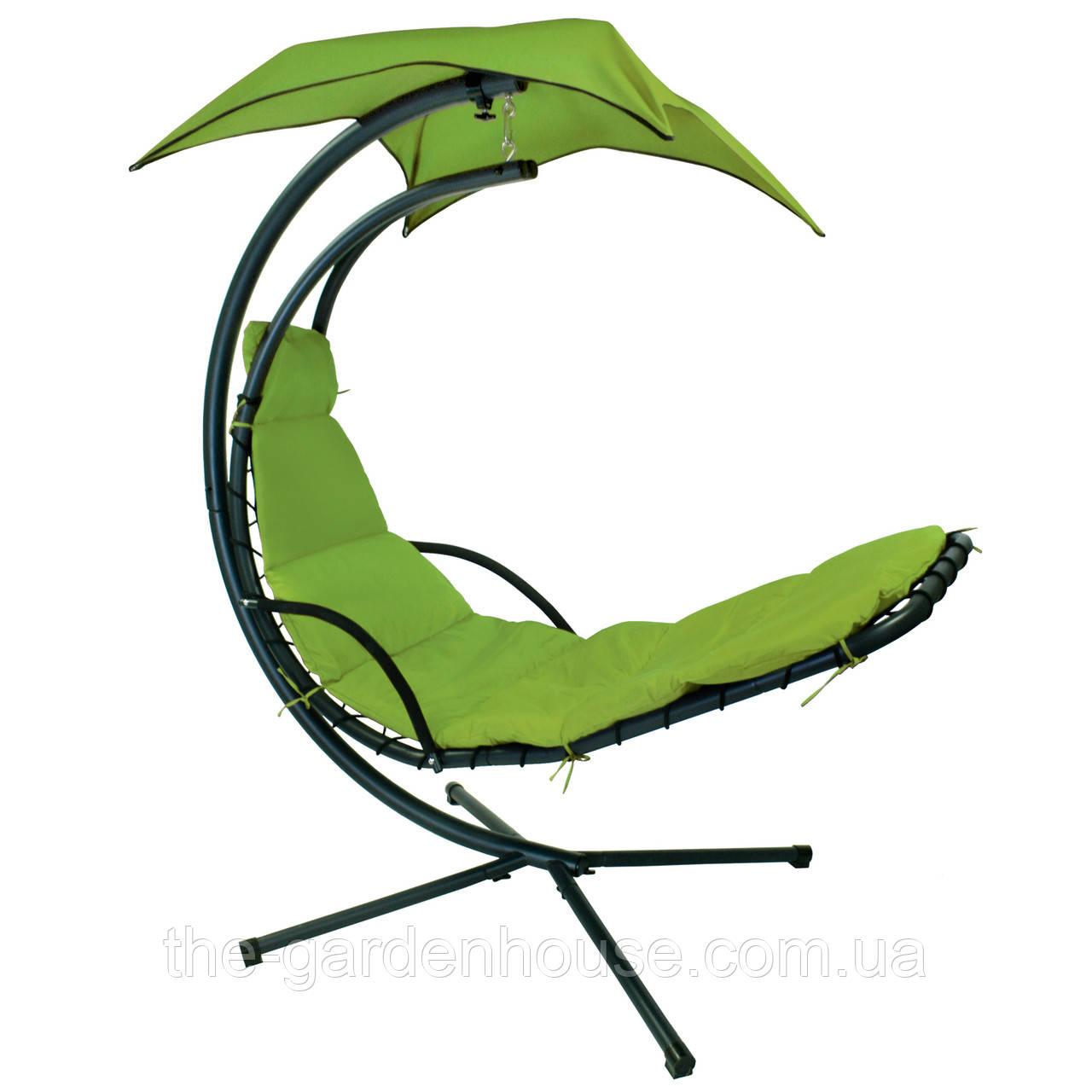 Подвесное кресло-шезлонг Dream с зонтиком зеленый