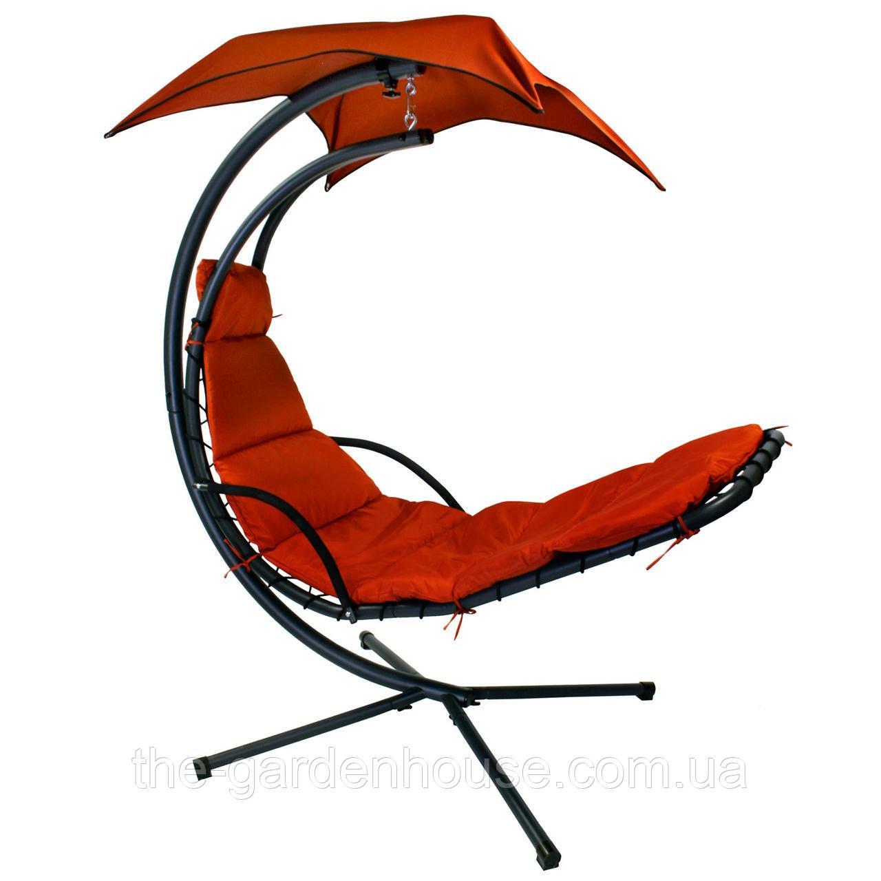 Подвесное кресло-шезлонг Dream с зонтиком красный