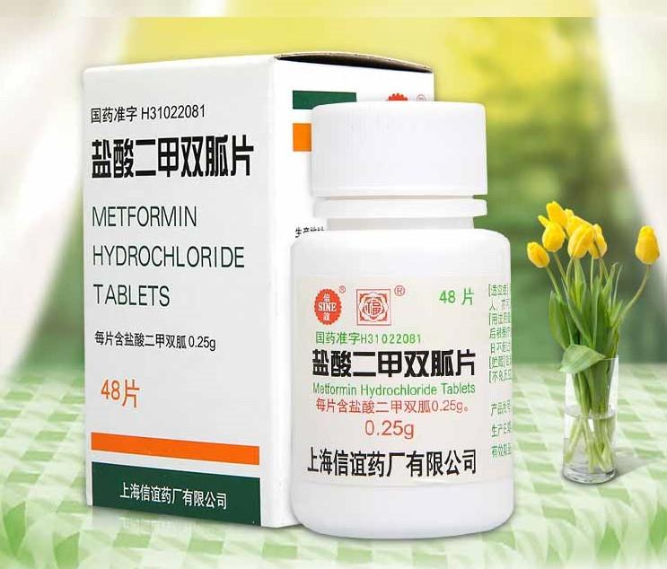 Препарат Метформин (Metforminum) 0.25g * 48 таблеток (диабет ...