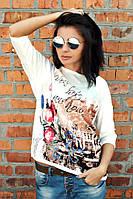 Футболка Березка город/букет, футболки оптом, женская футболка недорого, дропшиппинг  поставщик