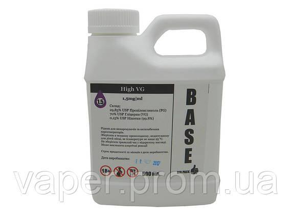 База, Основа для приготовления жидкостей High VG, 1.5 мг\мл (Ультралегкаяегкая) 500 мл. Канистра, фото 2