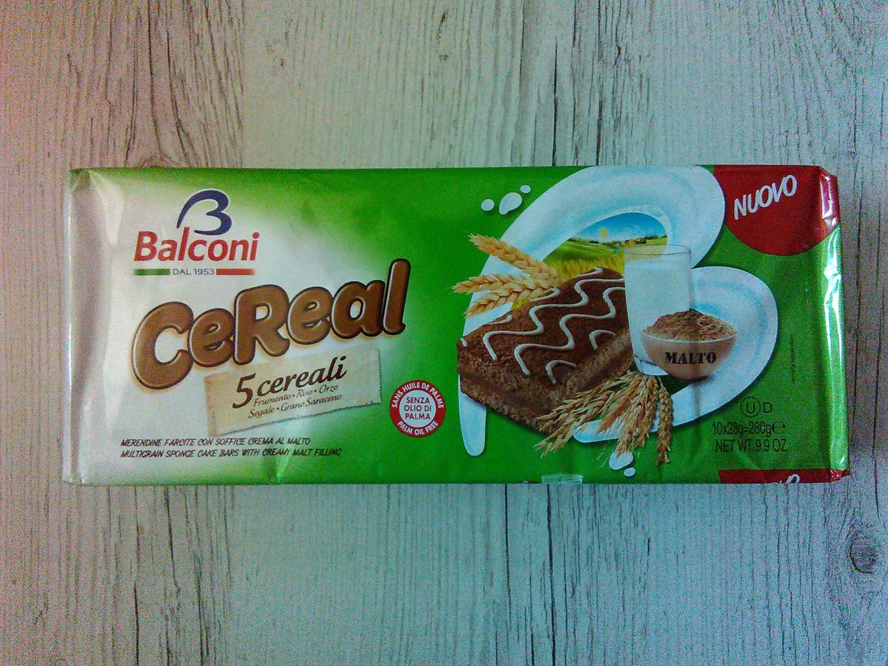 Бисквиты шоколадные Balconi CeReal, 280г