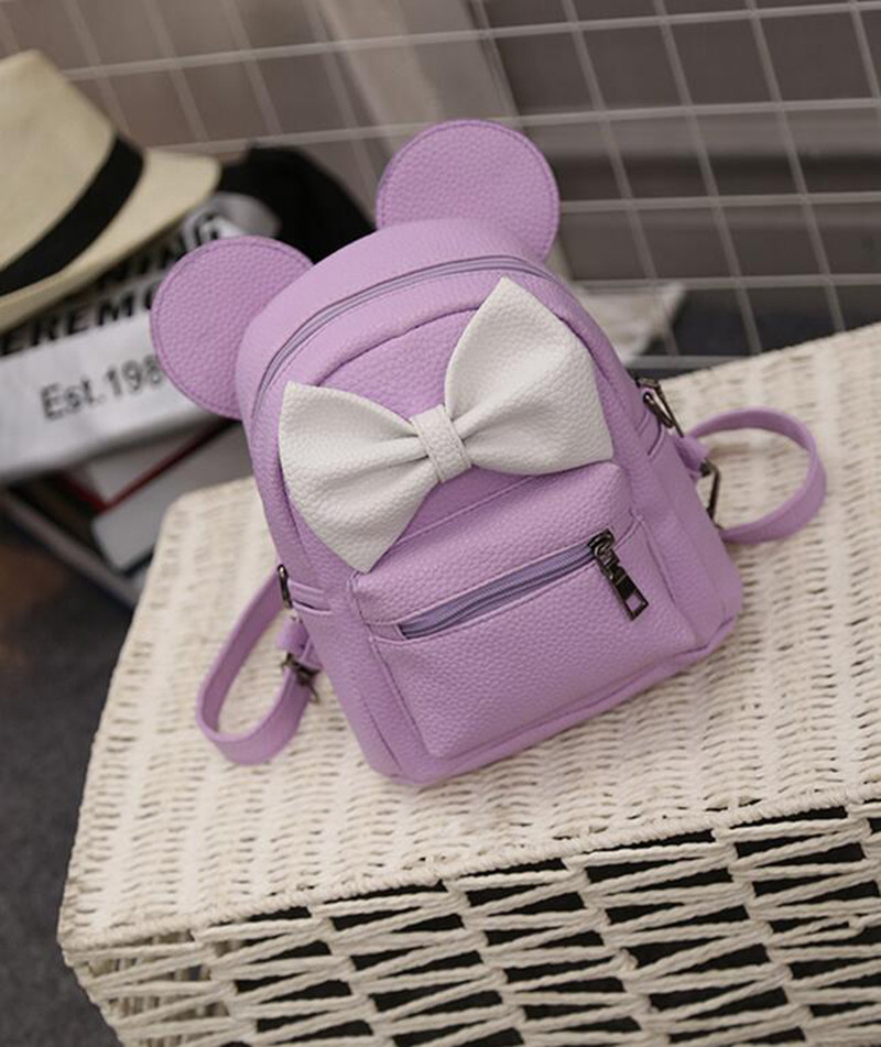 dfd6f9b89ead Модный стильный нежный маленький рюкзак с ушками и с бантом ,сиреневый !!! -