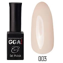 Гель-лак GGA, №003 (молочно-бежевый, эмаль), 10 мл