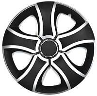 Колпаки на колеса диски для дисков R14 серо / черные SL/BK Бис Микс колпак