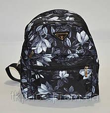 Маленький стильный рюкзак черный, фото 2