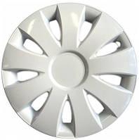 Колпаки на колеса диски для дисков R16 белые Аура колпак