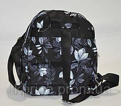 Маленький стильный рюкзак черный, фото 3