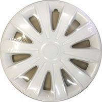 Колпаки на колеса диски для дисков R16 белые Карат колпак