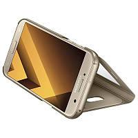 Чехол Samsung S View Standing Cover для смартфона Galaxy A7 2017 (A720) Gold, EF-CA720PFEGRU