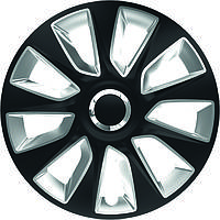 Колпаки на колеса диски для дисков R16 серо / черные SL/BK СТРАТОС супер блэк колпак