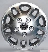 Колпаки на колеса диски для дисков R16 серые Нива под колесные болты Мекадор колпак