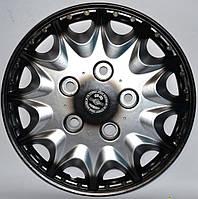 Колпаки на колеса диски для дисков R16 серо / черные Нива под колесные болты Принц плюс колпак