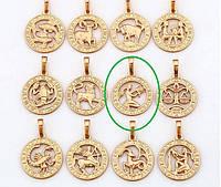 Кулон Позолота 18к Знак зодиака Дева