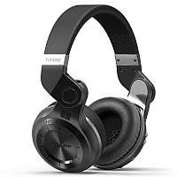 Беспроводные черные Bluetooth наушники гарнитура Bluedio T2+ MicroSD FM