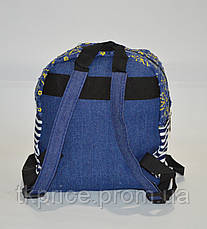 Стильный джинсовый рюкзак небольшого размера, фото 3