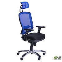 Кресло Коннект HR сиденье Сетка серая/спинка Сетка синяя, фото 1