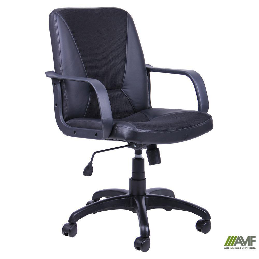 Кресло Лига Пластик Скаден Черный вставка Сетка черная