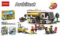 Конструктор Decool Architect 3117 Отдых на природе 3в1 (аналог Lego Creator 31052)