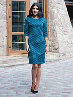 Молодежное женское платье Флора зеленая арония