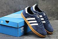 Мужские кроссовки Adidas 350, замш, Индонезия - синие, коричневые, бежевые, серые