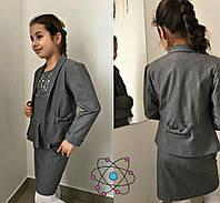 Школьный сарафан  и пиджак для девочки