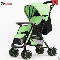 Ультролегкая коляска Wisesonle, зеленая