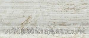 0011 Ясень белый - плинтус напольный пластиковый ТіС (ТИС)   с кабель каналом и резиновыми краями - 56мм