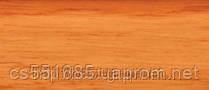 0013 Ольха классическа - плинтус напольный пластиковый ТіС (ТИС)   с кабель каналом и резиновыми краями - 56мм