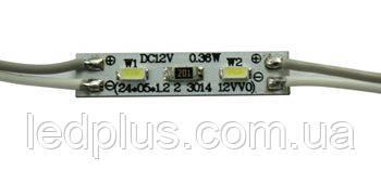 Светодиодные модули - 2 светодиода 3014 БЕЛЫЙ ХОЛОДНЫЙ
