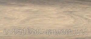 0014 Дуб белый - плинтус напольный пластиковый ТіС (ТИС)   с кабель каналом и резиновыми краями - 56мм