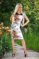 Платье женское летнее в цветочный принт, фото 1