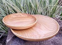 Блюдо из дерева плоское.Ясень