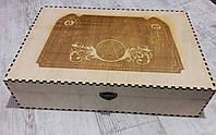 Деревянная коробка, шкатулка, подарочная коробка с логотипом