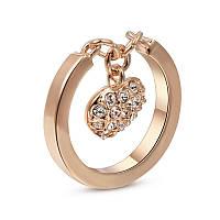 Женское кольцо с брелочком в позолоте My Heart 362490 (17.0 размеры в наличии)